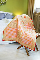 Одеяло детское в технике пэчворк Лотос размер 100*100 ручная работа
