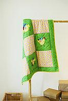 Одеяло детское в технике пэчворк Цыпа размер 100*100 ручная работа