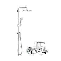Комплект Eurostyle Cosmopolitan OHM Смеситель однорычажный для ванны с душевой системой GROHE New Tempesta 200