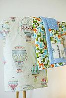 Одеяло детское в технике пэчворк 2 размер 100*100 ручная работа