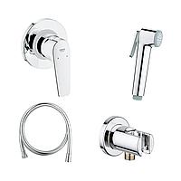 Комплект готовый для гигиенического душа GROHE BauFlow: встраиваемый смеситель, гигиенический душ со шлангом и