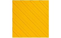 Плитка тактильная, самоклеящаяся, ПВХ, 300*300*5,5мм, тип диагональ, конусы, полосы, цвет желтый