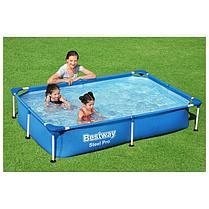 Каркасный бассейн BestWay 56401 (221*150*43 см, на 1800 литров), фото 3