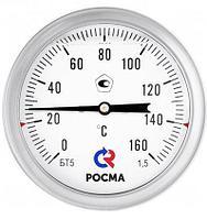 Термометры биметаллические коррозионностойкие с возможностью гидрозаполнения силиконом Росма