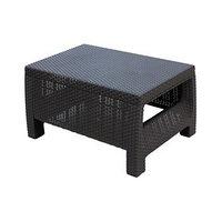 Стол 'Ротанг', 76,5 x 57 x 42 см, пластик, цвет шоколад