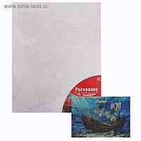 Картина по номерам 40×50 см в плёнке «Корабль на морском дне»