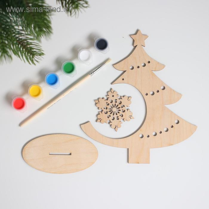 Набор для творчества «Нарядная ёлочка», снежинка - фото 3