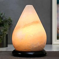 """Соляной светильник с диммером """"Капля"""" 1х15Вт Е14, 3-5 кг, 21х15х15 см"""