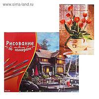 Картина по номерам 40×50 см в коробке «Тюльпаны в прозрачной вазе»