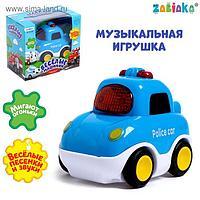 Музыкальная игрушка «Полицейская машина» цвет синий, звук, свет