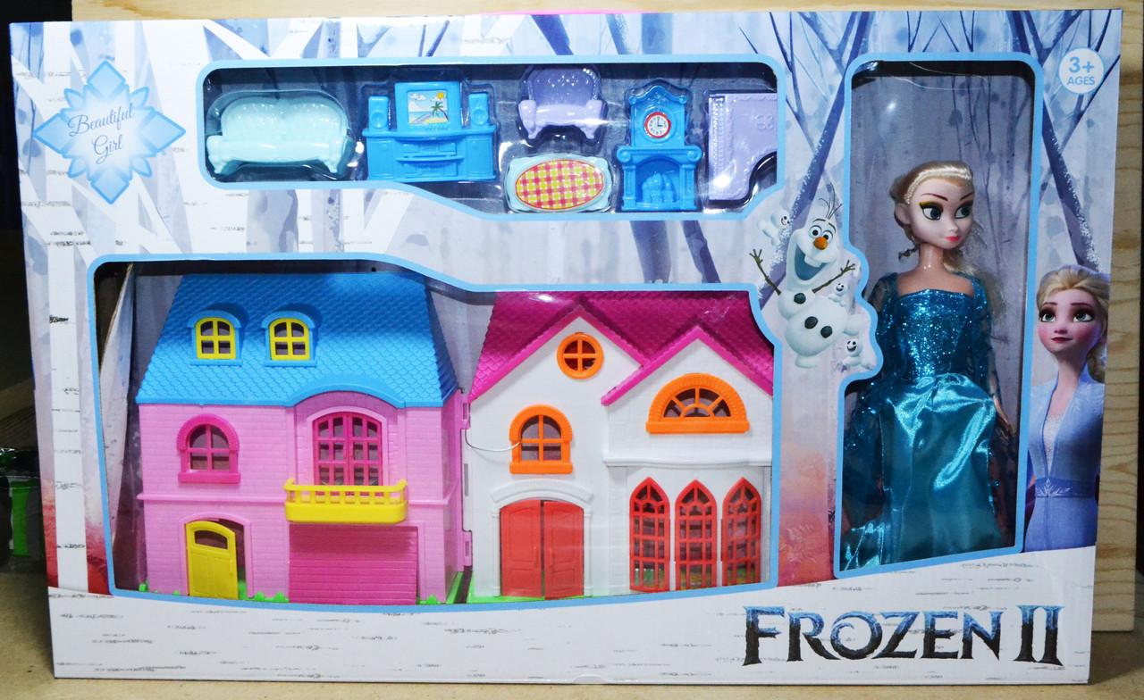 BX32529Z Домик для кукол Холодное сердце 2 с мебелью кукла Эльза 56*36