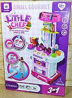 W097 Кухня Little Chef трансформер 3 в 1 в чемодане свет/звук на батарейках 43 детали 61*43, фото 1