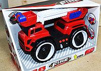 A5577-2 Пожарная техника Fire Fighter на батарейках большие колеса 27*17, фото 1