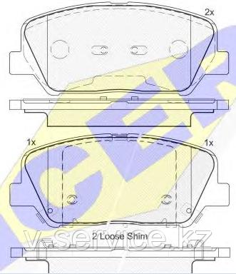Тормозные колодки KEBONO-690(REMSA 1398.12)