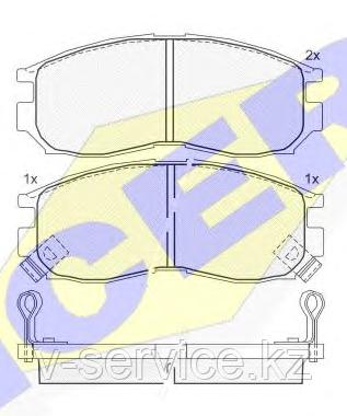 Тормозные колодки KEBONO-CD-6043M (REMSA 460,02)