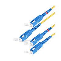 Патч Корд Оптоволоконный   SC/UPC-SC/UPC SM 9/125 Duplex 3.0мм 100 м  Жёлтый  Пол. Пакет