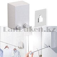 Автоматическая вешалка для сушки белья выдвижная Japanese clothesline белая