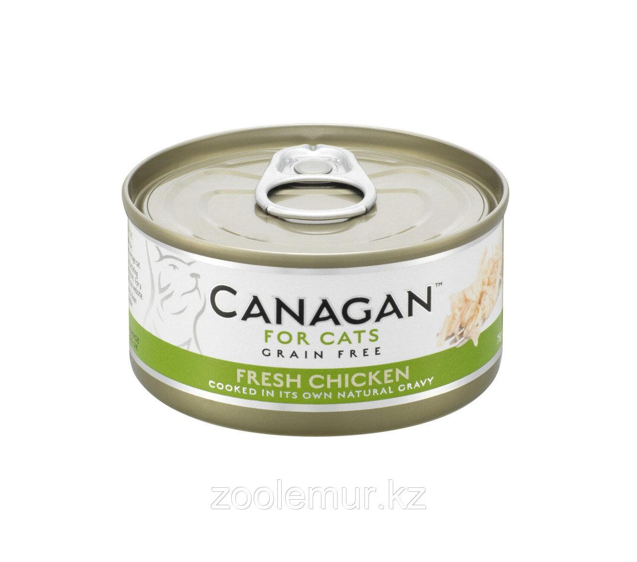 CANAGAN Полнорационный консервированный корм для кошек ЦЫПЛЕНОК 75г