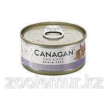CANAGAN Полнорационный консервированный корм для кошек ЦЫПЛЕНОК с УТКОЙ 75г