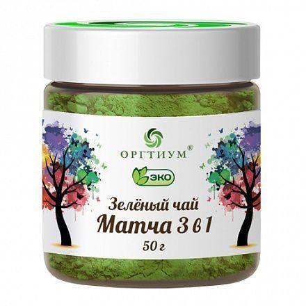 Зеленый чай Матча 3 в 1, 100  гр, Оргтиум, с молоком и сахаром