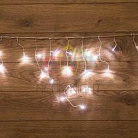 """Светодиодная гирлянда """"Бахрома"""" (""""Айсикл"""") - 1,8 х 0,5 метра, 48 лампочек, белый цвет, мерцает"""