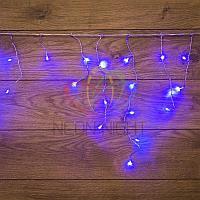 """Световая гирлянда """"Бахрома"""" (""""Айсикл"""") - 1,8 х 0,5 метра, 48 лампочек, синий цвет, мерцает"""