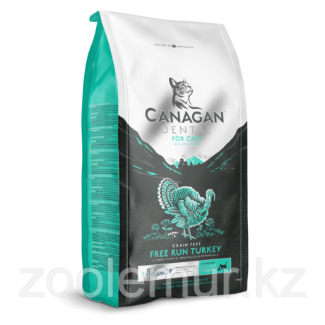 CANAGAN GF корм 1.5 кг для кошек всех возрастов и котят, Индейка для ухода за полостью рта