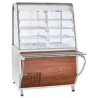 Прилавок-витрина холодильный ABAT «Премьер» ПВВ(Н)-70Т-С-НШ кашированнный