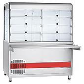 Прилавок-витрина холодильный ABAT «Аста» ПВВ(Н)-70КМ-С-01-НШ