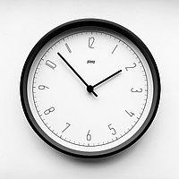 Настенные кварцевые часы PLEEP ONIKA B&W-S-11A