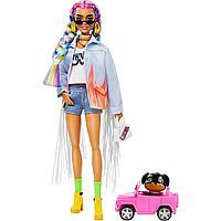Barbie Экстра Модная Кукла с радужными косичками №5, Барби