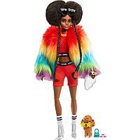 Barbie Экстра Модная Кукла в радужном пальто №1, Барби