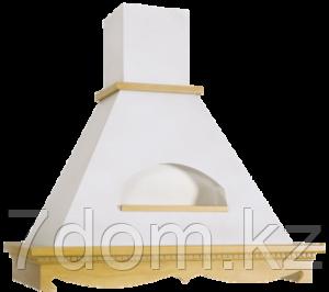 Вытяжка классика Elikor Бельведер 90П-650 топ. молоко/дуб крем + патина золото