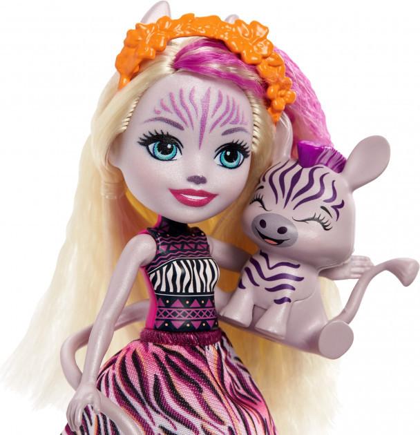 Enchantimals Кукла Энчантималс с питомцем Зебра Зейди, 15 см - фото 2