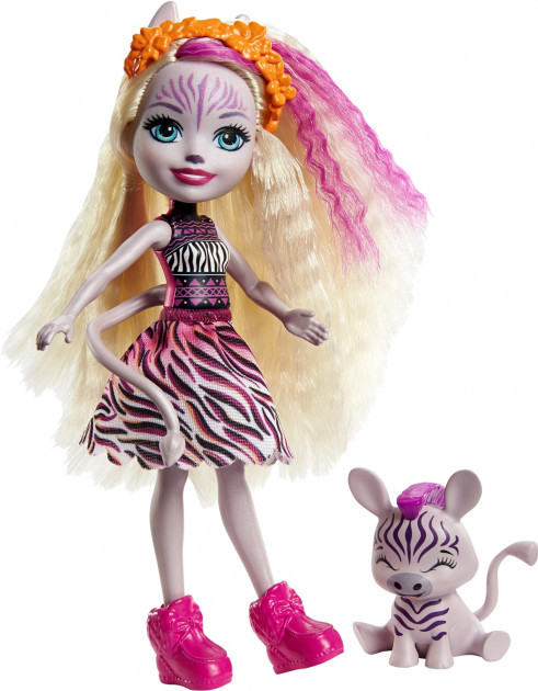 Enchantimals Кукла Энчантималс с питомцем Зебра Зейди, 15 см - фото 1