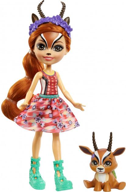 Enchantimals Кукла Энчантималс с питомцем Габриэла Газелли, 15 см