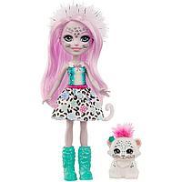 Enchantimals Кукла Энчантималс с питомцем Снежный леопард Сибилла, 15 см