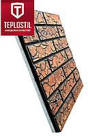 Термопанель облицовочная завода TEPLOSTIL. Фактура Римский Кирпич с утеплителем 30 мм