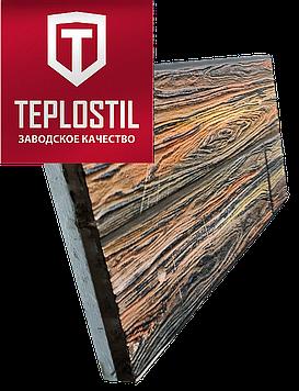 Термопанель облицовочная завода TEPLOSTIL. Фактура Дерево с утеплителем 100 мм