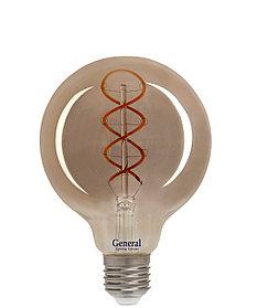 Лампа LED GLDEN-G95DSS-6W/230/E27/2K,филамент,дымчато-серая,(General)(5/20),684900