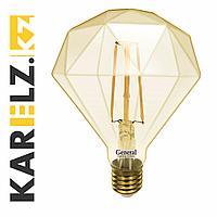 Лампа LED GLDEN-G125TDSS-DEM-7W/230/E27/2K,филамент,прозрачная,диммируемая(General)(5/20),687300