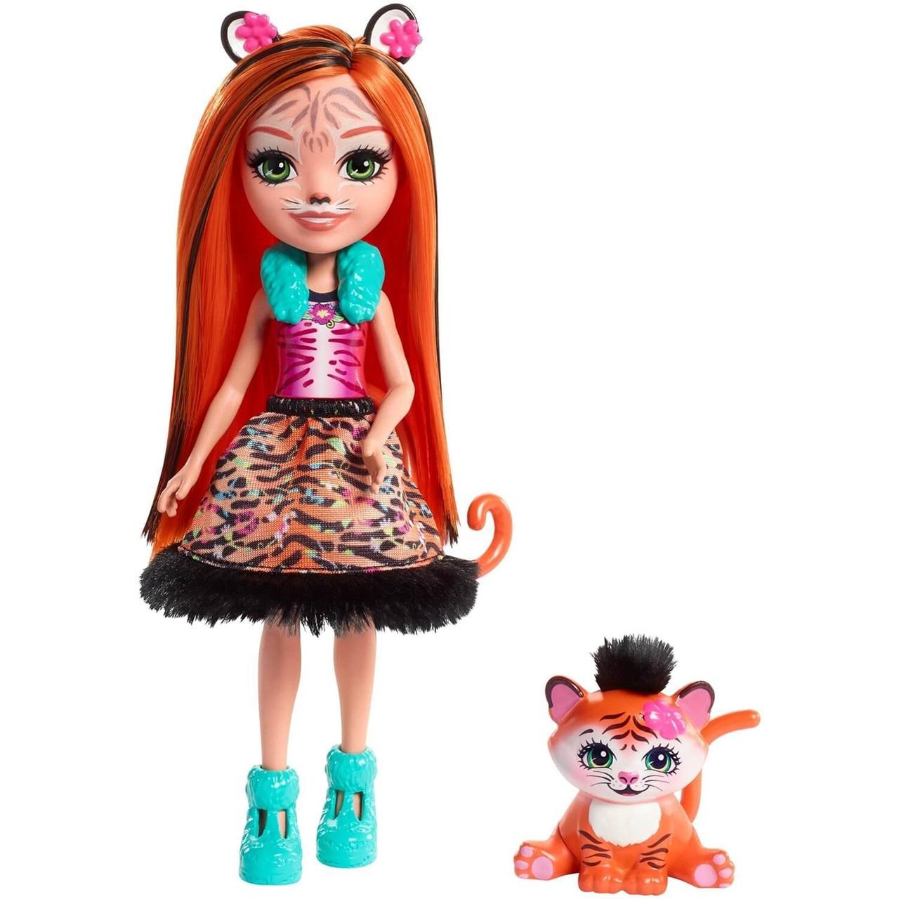 Энчантималс Enchantimals кукла с питомцем Тензи Тигра И Тафт - фото 1
