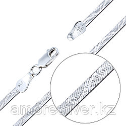 Цепь Teosa серебро с родием, без вставок, лента, фантазия EXF I423-040-50 размеры - 50