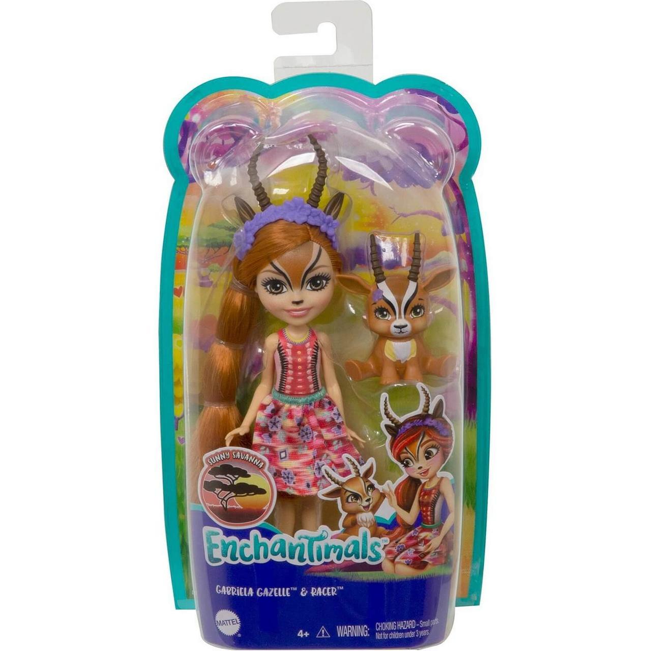 Энчантималс Enchantimals кукла с питомцем Габриэла Газелли и Рейсер GTM26 - фото 2