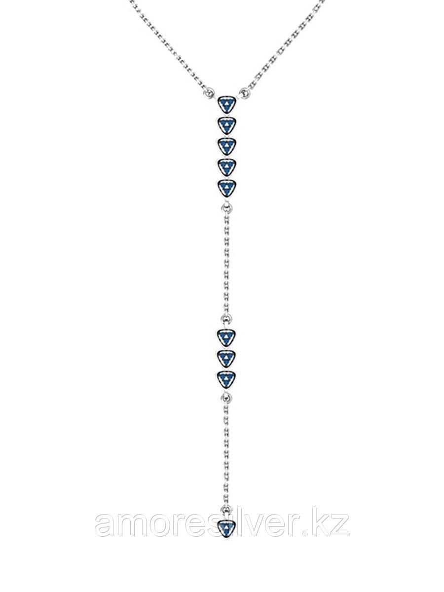 Колье  серебро с родием, фианит, карабинный замок, дорожка 0320341-00275 размеры - 45