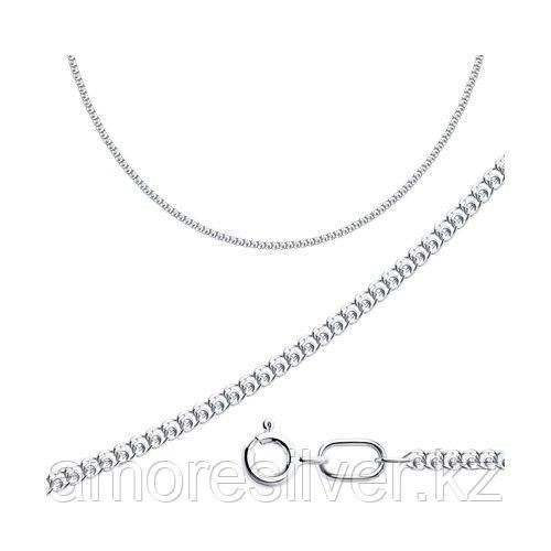 Цепь SOKOLOV серебро с родием, без вставок, лав 968080302 размеры - 40 45 55