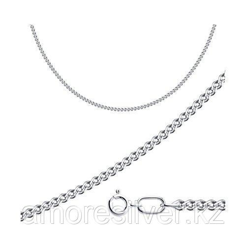 Цепь SOKOLOV серебро с родием, без вставок, нонна 968060302 размеры - 40 45 50 55 60