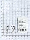 Серьги TEOSA серебро с родием, жемчуг культ. фианит, с английским замком, классика 290-9-815Р, фото 3