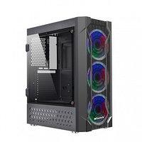 Корпус Wintek Rainbow K106, ATX-Micro ATX, USB 1*3.0-2*2.0, 0,45 mm, 3*12cm SR Rainbow fan