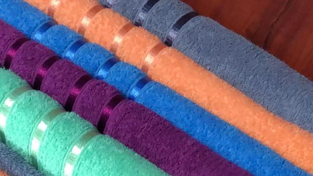 Полотенце для лица цветное